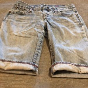 Light colored denim shorts